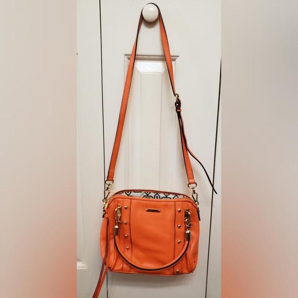 Rebecca Minkoff Handbags - Rebecca Minkoff Orange Leather Hand/Shoulder Bag